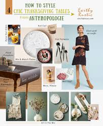how to style 4 chic thanksgiving tables from anthropologie chic