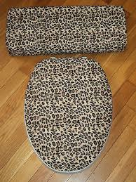 Cheetah Print Bathroom by Leopard Print Cheetah Bathroom Decor Toilet Seat U0026 Tank Lid
