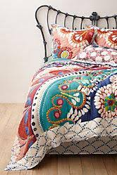 Moroccan Inspired Bedding Bohemian Multicolored Moroccan Quilt