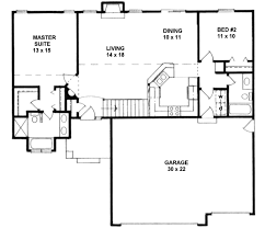 craftsman style house plan 2 beds 2 00 baths 1164 sq ft plan 58 169