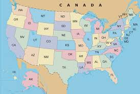 United States Map With State Names by List Of Us State Abbreviations Wikipedia Usa Map With State