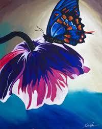 butterfly landing latoya s creative paintings prints
