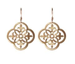 gold ornamental aluminum earrings intuitive