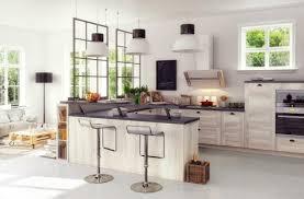 cuisine effet bois effet matière bois béton you