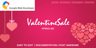 valentines sale sale html5 ad by thehech codecanyon