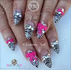 nail designs zebra print pink images