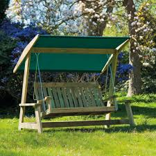 canopy patio swing brown finish powder coated steel frame