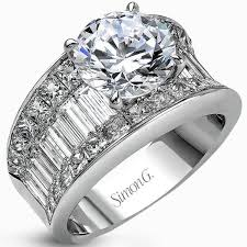 large engagement rings simon g large center diamond engagement ring