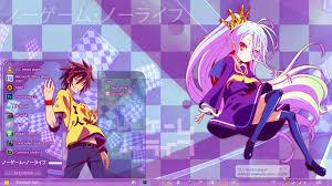 no game no life anime skin theme win 7 no game no life by bashkara