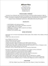 Resume Samples For Cleaning Job by Professional Room Attendant Templates To Showcase Your Talent