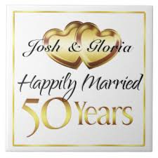 Greetings For 50th Wedding Anniversary 50th Anniversary Ceramic Tiles Zazzle