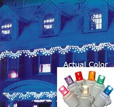 150 led c6 lights amazon com vickerman multicolored led wide angle swag christmas