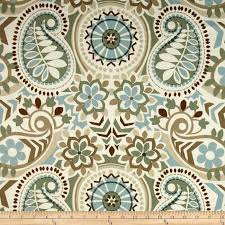 Designer Material For Curtains Waverly Paisley Prism Twill Latte Discount Designer Fabric