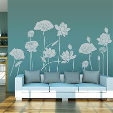 wall paper home decor traditional art water lilies vinyl wall