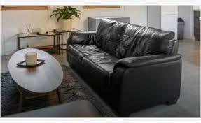 canap cuir noir canape cuir noir 3 places meubles et décoration la réunion