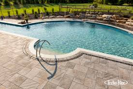 pool patio pavers techo bloc patio pool water feature