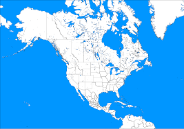 Blank Map Of World Political by North America Political Blank Map