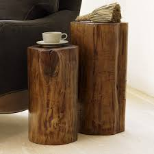 tree stump accent table fallen wood accent stump tables tables and woods