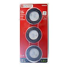 utilitech led strip light 12 ft utilitech led puck lights 3000k black lsone