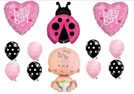 ladybug baby shower pink ladybug baby shower it s a girl balloon kit mylar