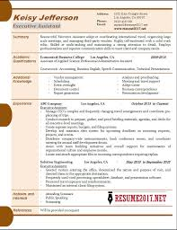 Business Resumes Samples by Executive Assistant Resume Samples 2017 U2022