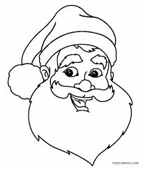 large santa face coloring page murderthestout