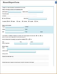 incident hazard report form template printable ms word hazard report form word document templates