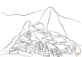machu picchu coloring page free printable coloring pages