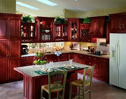 redo kitchen jacksonville florida with red cherry wood cabinets