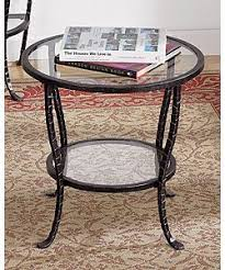 Glass End Tables End Tables Designs Wrouht Iron End Tables With Glass Top Iron