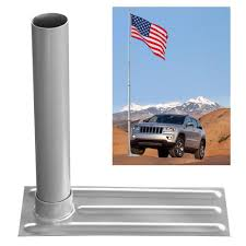 Flag Bracket Yeshom Portable All Metal Flag Pole Wheel Stand Tailgate Tire