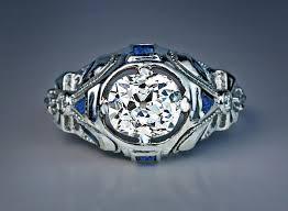 vintage art deco 1 47 ct diamond bow motif engagement ring