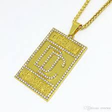 crystal design necklace images Wholesale crystal design dc pendant necklace 24k gold plated jpg