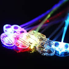 amazon com ilyever 10 pack lights up fiber optic led hair lights
