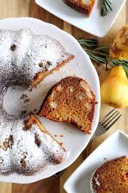 pear honey rosemary bundt cake marisa u0027s italian kitchen