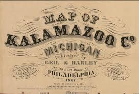 Kalamazoo Michigan Map by Michigan County Wall Maps U2013 Feb 2016 Old Maps Blog