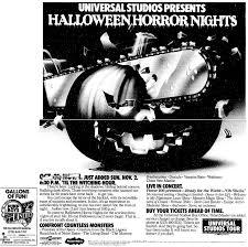 halloween horror nights california park memorabilia 1986 halloween horror nights hollywood 1997