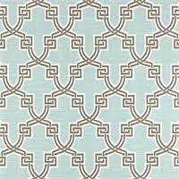 Geometric Drapery Fabric Francis Fret Blue Bell Blue Cotton Geometric Drapery Fabric By