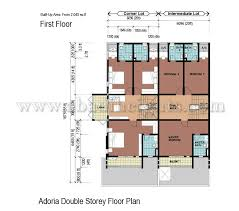 Double Story House Floor Plans Double Storey Terrace House Floor Plan House And Home Design