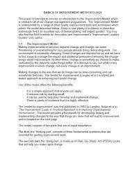 basics of improvement methodology quality improvement u2013 east