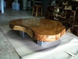 reclaimed acacia wood solid slab coffee table flowbkk solid Acacia Wood Coffee Table