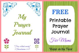 free printable prayer journal for moms water on the floor