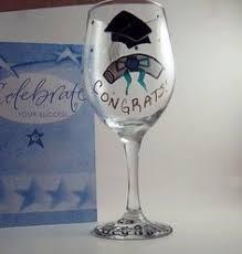 Graduation Wine Glasses Custom Graduation Wine Glasses On Etsy 10 00 Art Pinterest
