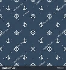 vintage halloween pattern background boat steering wheel anchor pattern on stock vector 685581826
