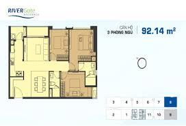 Rivergate Floor Plan Dự án Rivergate Quận 4 Thegioicanhosg