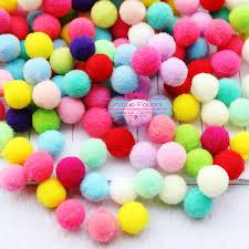 500pcs 15mm colorful pompom craft high elastic polyester pom