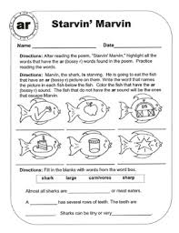 r r controlled vowel sound ar original poems and worksheets