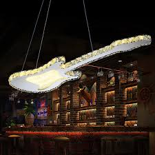 2016 led bar crystal creative personality guitar lamps modern
