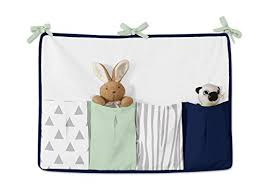 navy blue mint and grey woodsy deer boys baby bedding 9 piece