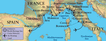 Map Of Spain And France by Rivieras And Islands France Italy Spain